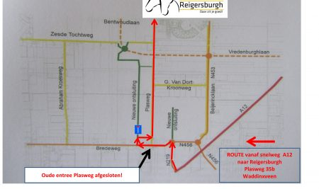 Nieuwe route naar Manege Reigersburgh